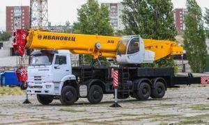 Модельный ряд автокранов Ивановец 50 тонн