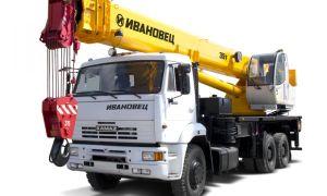 Весь модельный ряд автокранов Ивановец 35 тонн