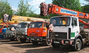 Аренда автокранов от компании «Аренда от собственника» в городе Санкт-Петербург