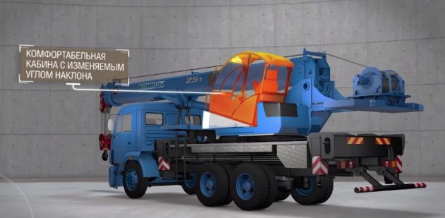 Автокран КС-55713-1К-4 КЛИНЦЫ овоид - 25 тонн