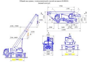 МКТ-25 на платформе КАМАЗ - особенности автокрана