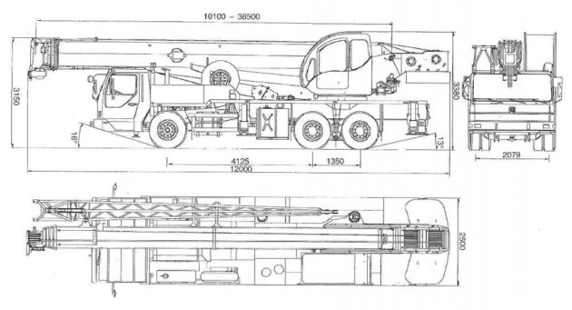 Автокран XCMG технические характеристики