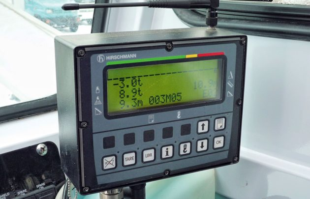 Прибор безопасности Hirschmann определяющий предел грузоподъемности автокрана