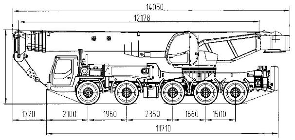 Ивановец КС-7474 габаритные размеры