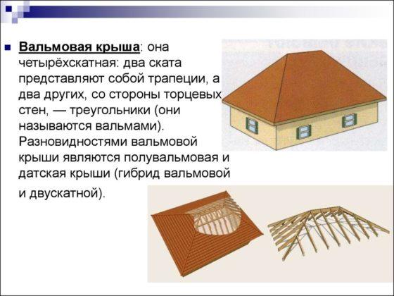 Что представляет собой вальмовая крыша