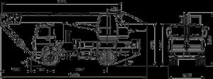 Габариты автокрана КС-35715