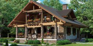 Альпийский дом в стиле шале