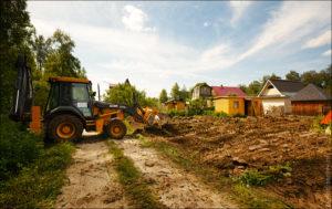 Подготовка земельного участка под строительство дома