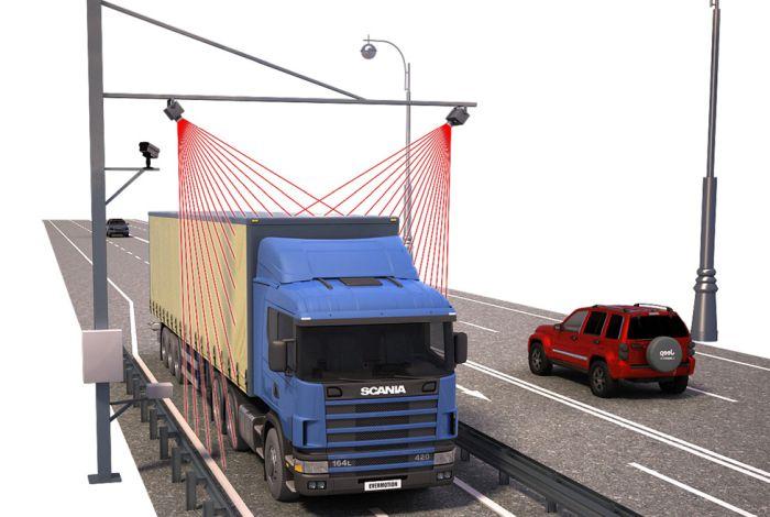 автоматический замер грузов на трассе