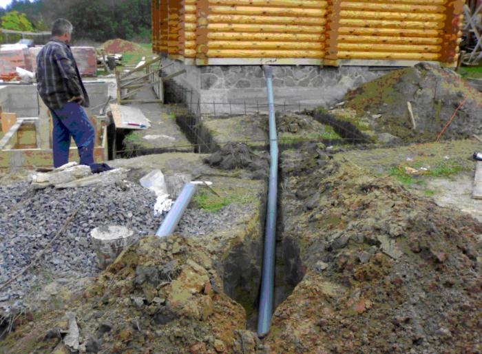 угол наклона канализационной трубы на 110 мм