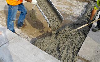 Расчет объема и пропорций материалов для бетонной смеси