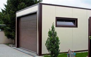 Сооружение гаража из сэндвич-панелей