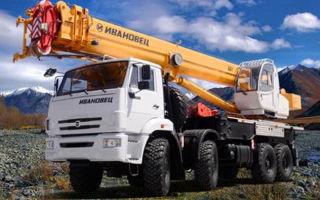 Все автокраны Ивановец с грузоподъемностью 40 тонн