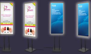 Рекламные стойки от компании Марион