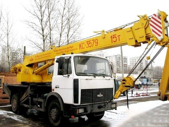 Автокран Машека КС 3579 – 15-ти тонник