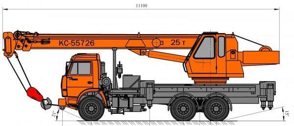 Автокран Угличмаш КС-55726