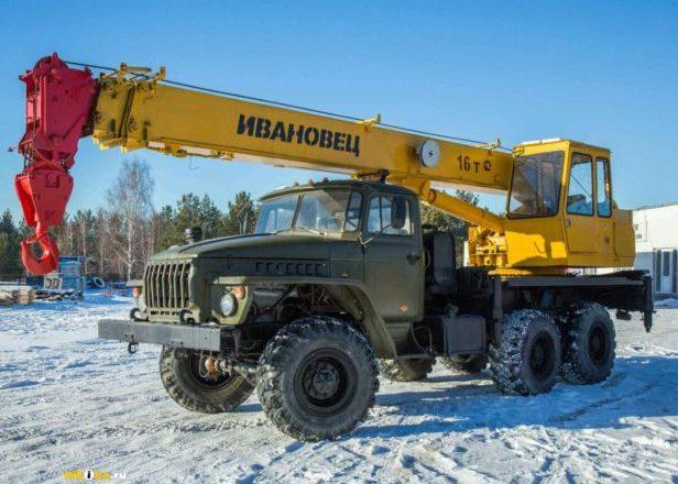 Автокран 16 тонн вездеход