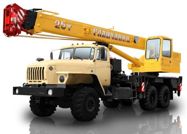 Автокран 25 тонн 22 метра вездеход