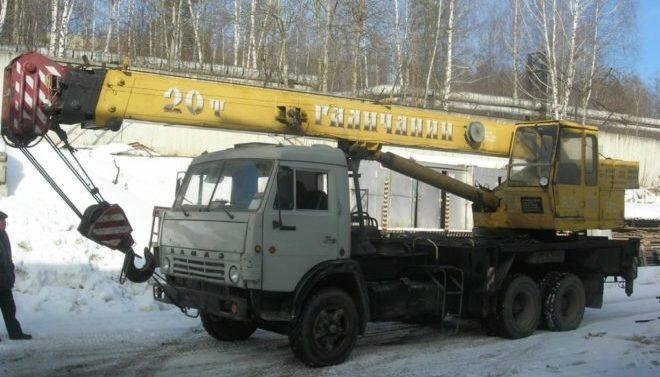 Автокран Галичанин 20 тонн