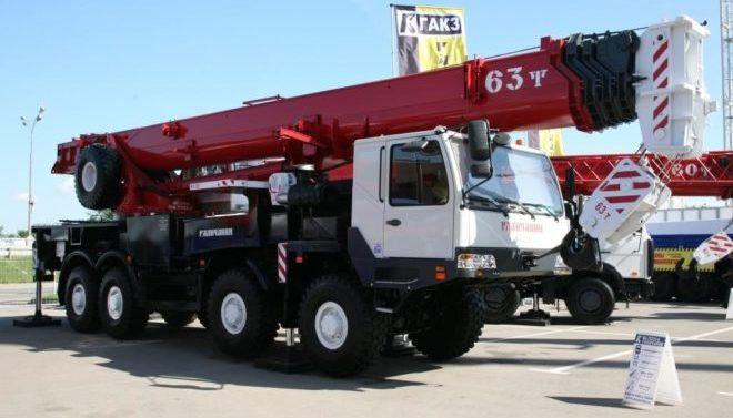 Автокран Галичанин 63 тонны