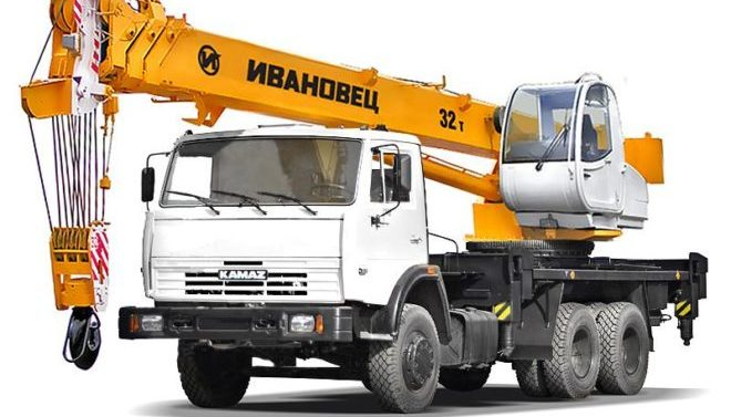 Автокран Ивановец 32 тонны