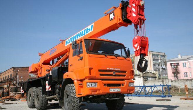 Автокран Клинцы 25 тонн