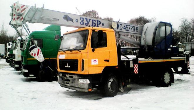 Автокран МАШЕКА КС-45729-8-02 Зубр