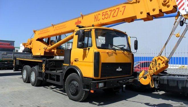 Автокран Машека 25 тонн 28 метров