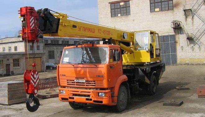 Автокран Углич КС-3577-3К на шасси КамАЗ 53605
