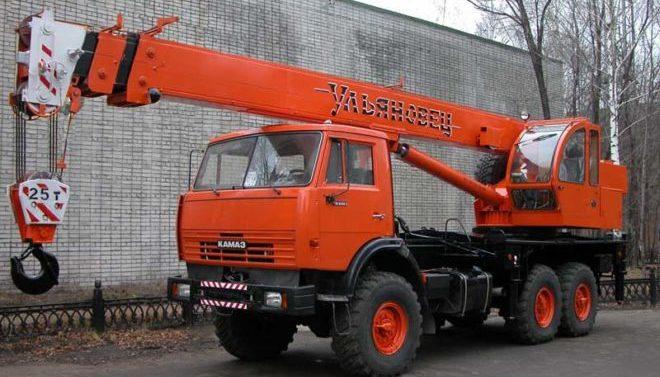 Автокран Ульяновец 30 тонн