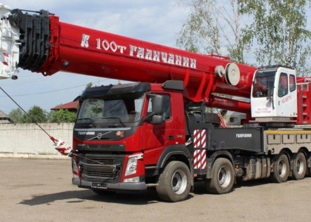 Автокраны 100 тонн