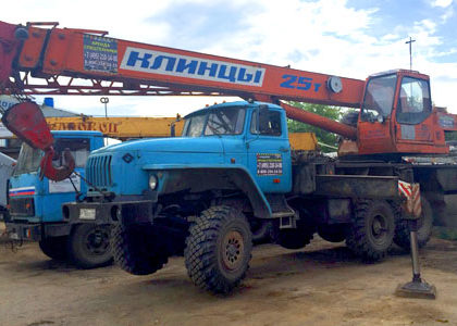 Автокраны 25 тонн вездеход