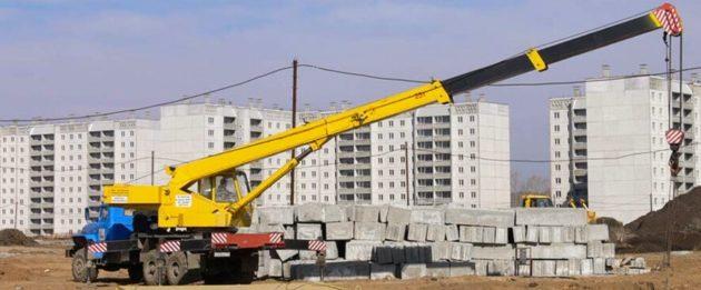 Автокраны в строительстве Екатеринбурга