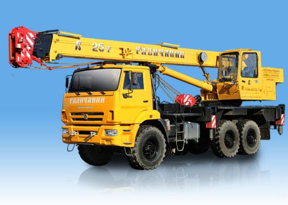 Автомобильный кран «Галичанин» 25 тонн