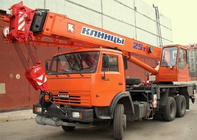 Автомобильный кран Клинцы 25 тонн