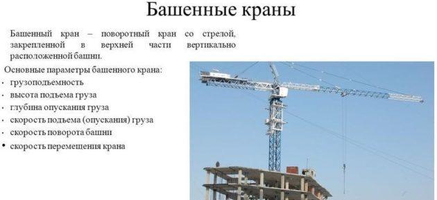 Базовая система башенного крана