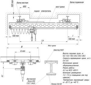 Кран-балка - схема и характеристика установки