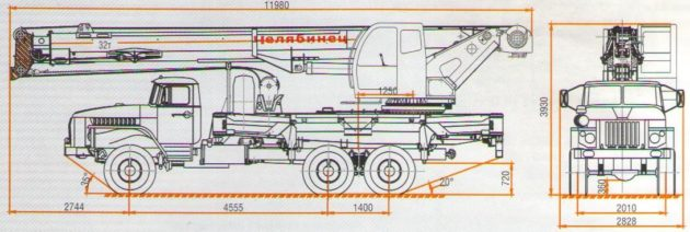 Автокран Челябинец технические характеристики