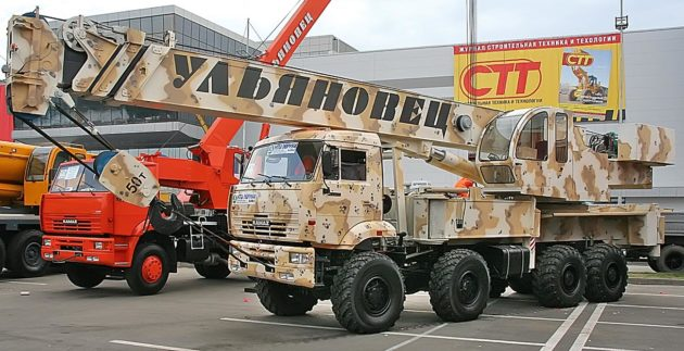 Ульяновец МКТ-50 на четырехосном шасси КАМАЗ