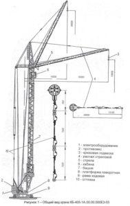 Устройство башенного крана КБ-405