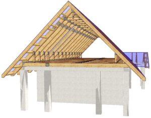 Что представляет собой двускатная крыша